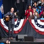 Dave Matthews performs a five-song acoustic set at Bristow, VA campaign rally for Obama on November 4, 2012.