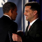 President Obama shakes hands with Ricky Martin at New York fundraiser hosted by Martin and LGBT Leadership Council and Futuro Fund in May 2012.