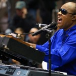 Stevie Wonder performs at campaign rally for President Barack Obama at Fifth Third Arena on November 4, 2012 in Cincinnati, OH. Chip Somodevilla/Getty Images