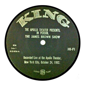 James Brown's 1962 recording at the Apollo (released in May 1963) was a breakthrough in the world of live recordings for soul music.