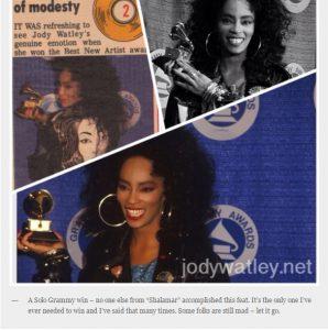 Screenshot of Jody Watley's magazine memorabilia (JodyWatley.net)