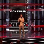 Janet Jackson receiving the Billboard Icon Award, becoming the first black female to receive the award.