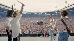 Scene snapshot from the recreated infamous Live Aid performance