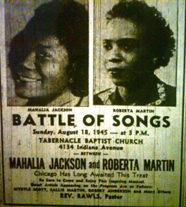 Battle of Songs. Featuring Mahalia Jackson vs Roberta Martin, 1945