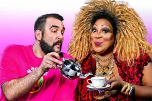 Lady Red with 'Hey Qween' host Jonny McGovern