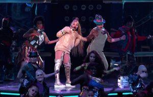 Janet Jackson performing at the Billboard Music Awards